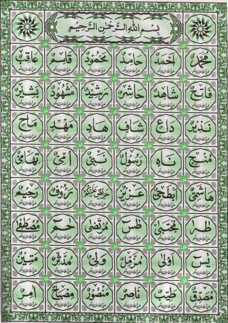 99 Names Of Muhammad